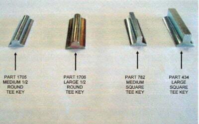 Tee Keys for Jet Impellers
